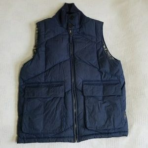 Burberry London Navy Blue Puffer Goosedown Vest S